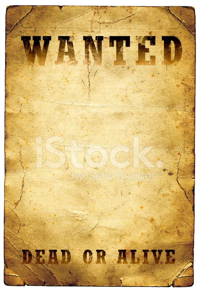 Wanted Dead OR Alive Poster Wild West Stock Photos.