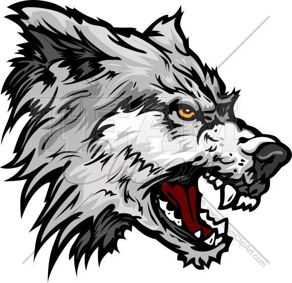 Wolf Vector Clipart Image. Easy to Edit Vector Format..