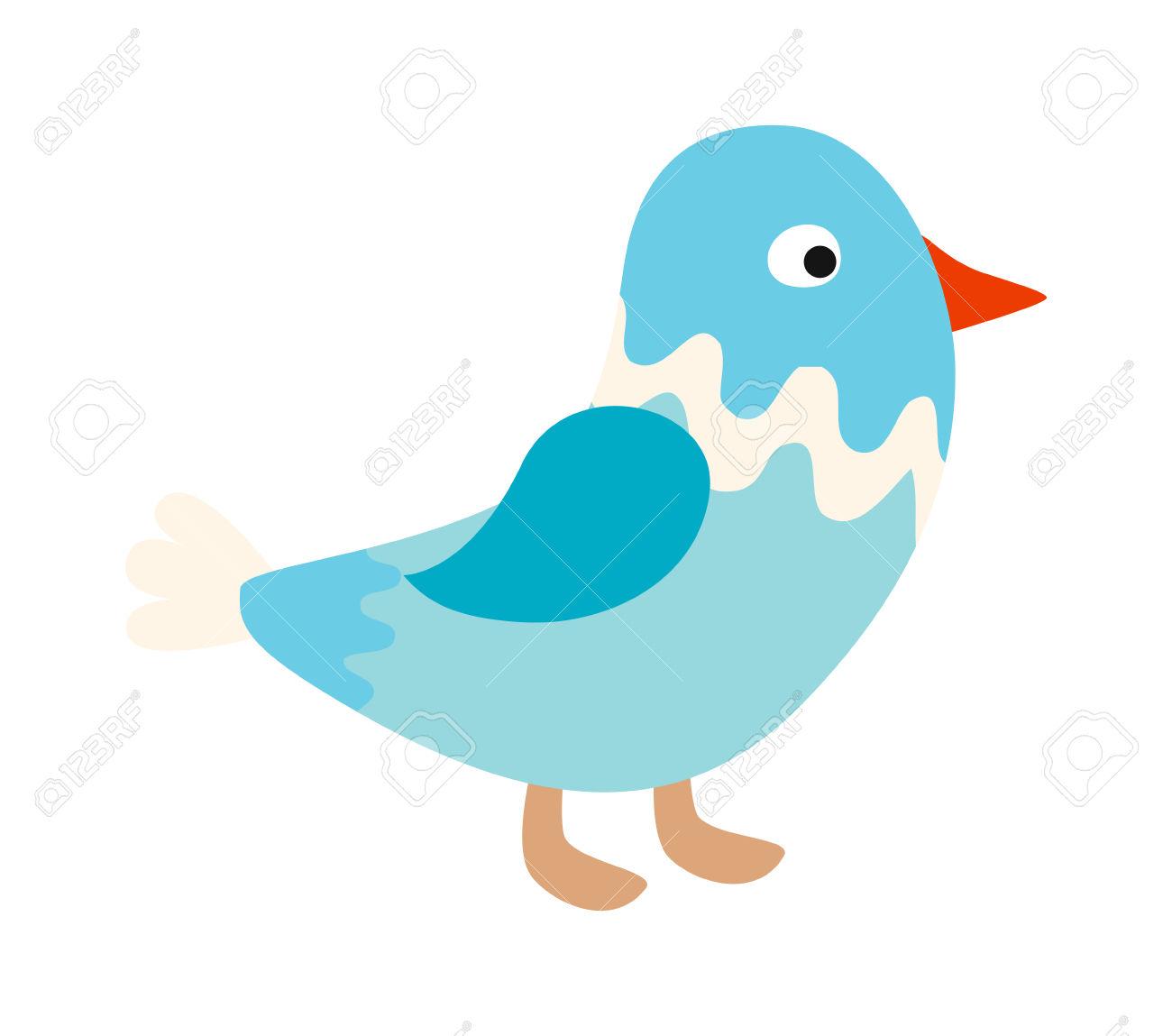 Blue Bird Nature Animal And Cute Blue Bird Wing. Wild Blue Bird.