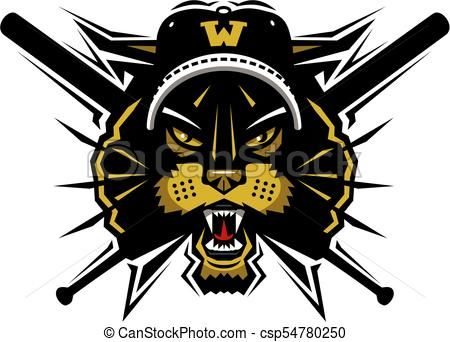 wildcats baseball mascot Vector.