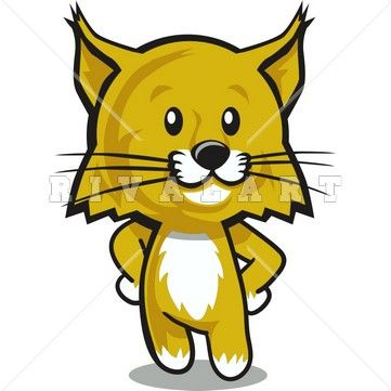 Clipart Image of a Wildcat Cub Graphic.