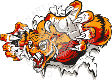 Tiger Claw Rip Clipart.