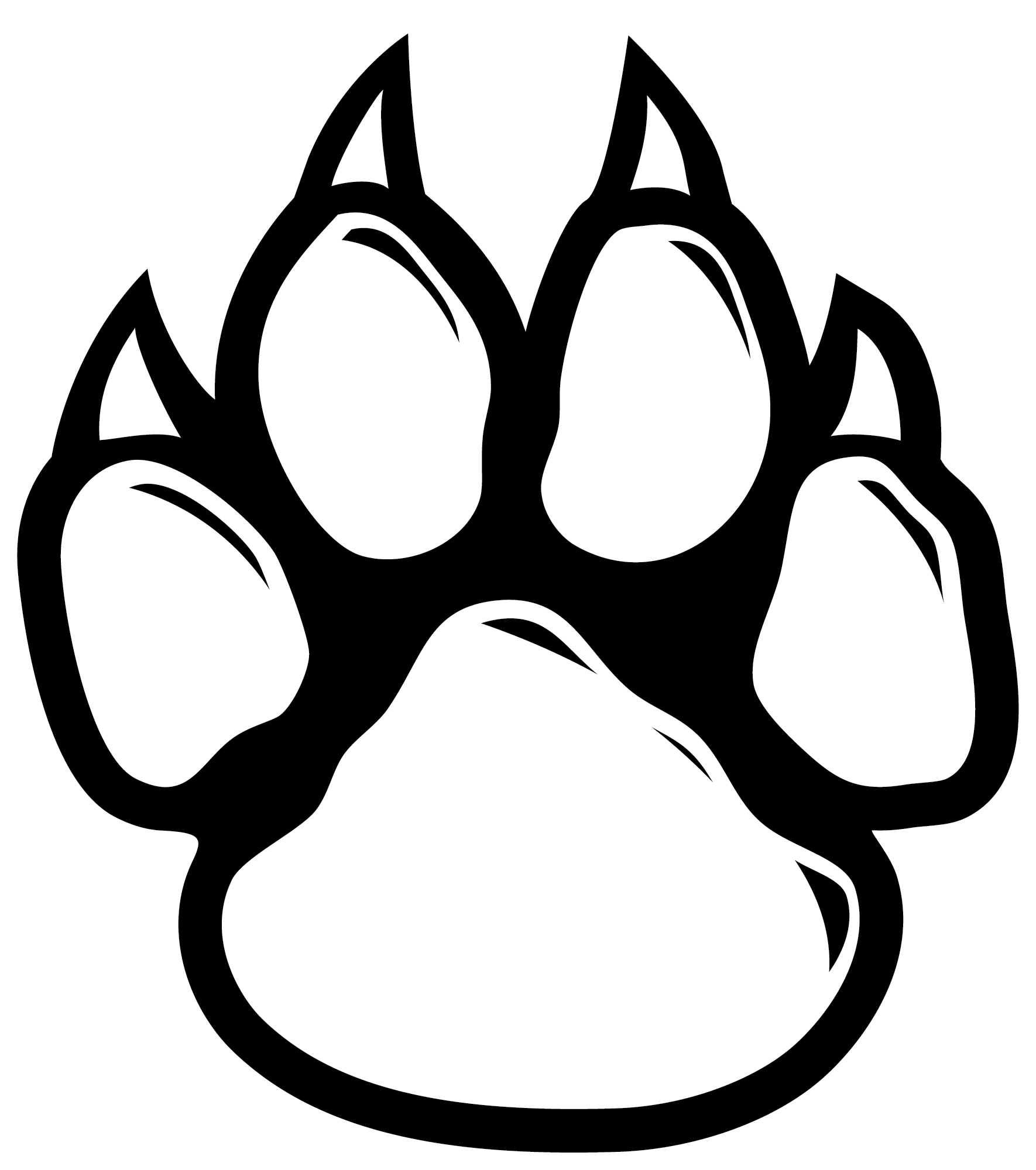 Wildcat Paw Dog Clip art.