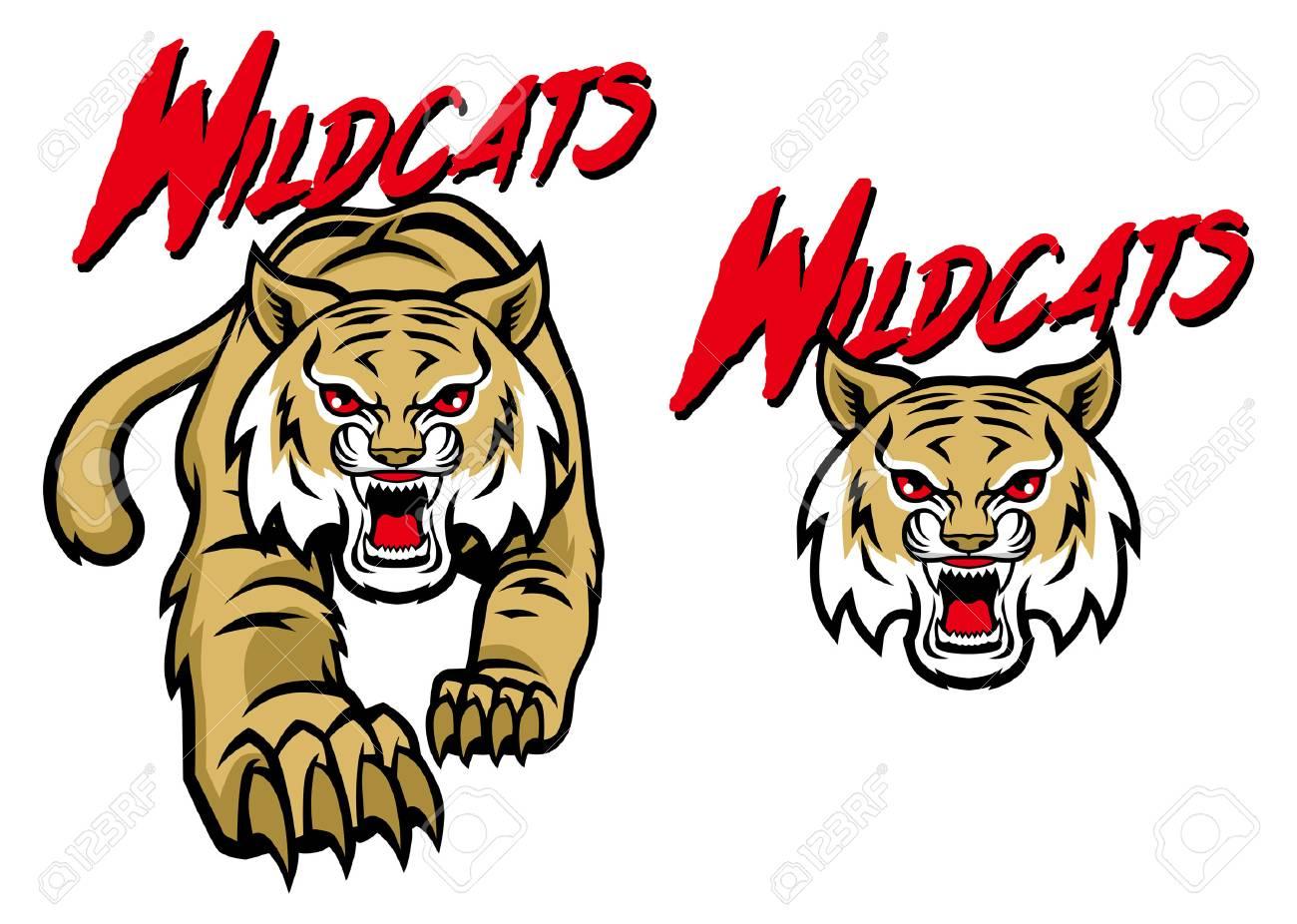 wildcat mascot set.
