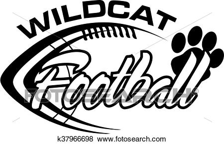 Wildcat football Clip Art.
