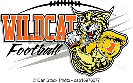 Wildcat football Clipart Vector Graphics. 248 Wildcat football EPS.