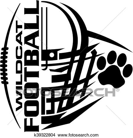 Wildcat football Clipart.