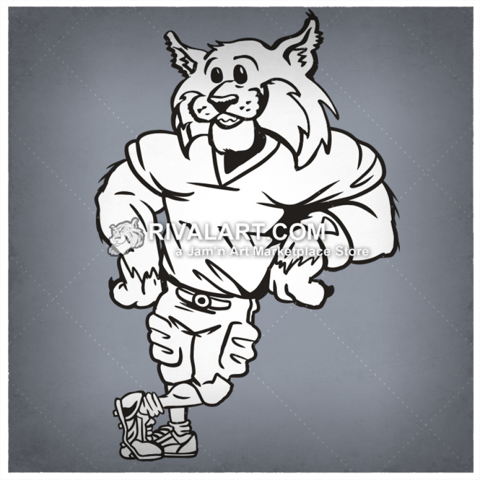 Wildcat leaning clipart clipart images gallery for free.