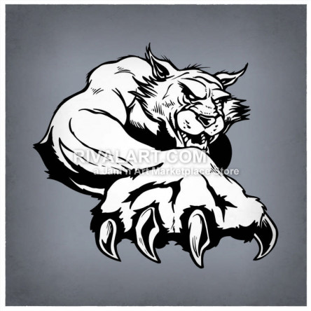 Wildcat Clipart on Rivalart.com.