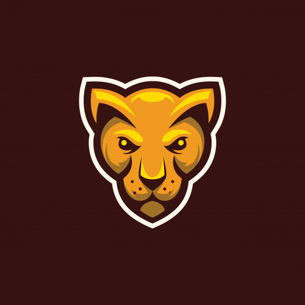 Head wild cat mascot logo Vector.