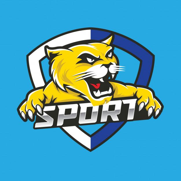 Wildcat esport mascot logo design Vector.