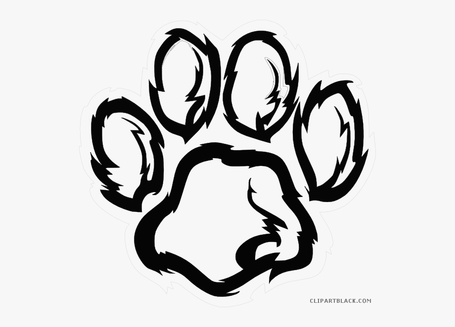 Freeuse Download Paw Clipart Black And White.