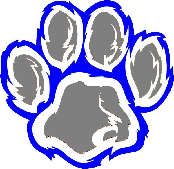 Wildcat Paw Clip Art free image.