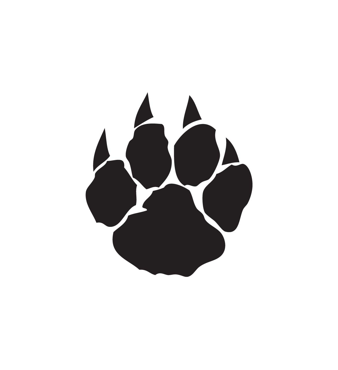 Pics Photos Wildcat Paw Prints Cat Paws clipart free image.