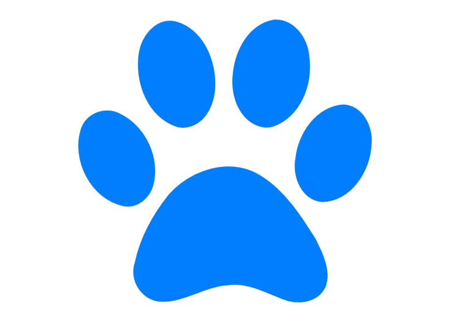 Paw Print Dog Free Wildcat Clip Art Pawprint Blues Png.
