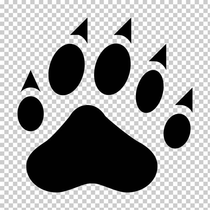 Wildcat Paw Stencil , footprints PNG clipart.