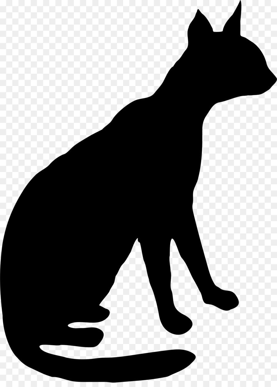 Cat Silhouette clipart.