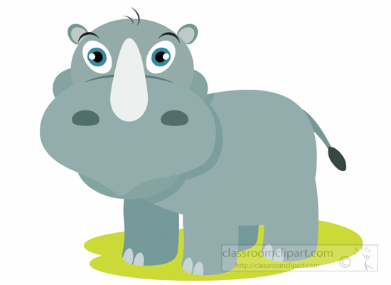 Rhino Clipart : cartoon.