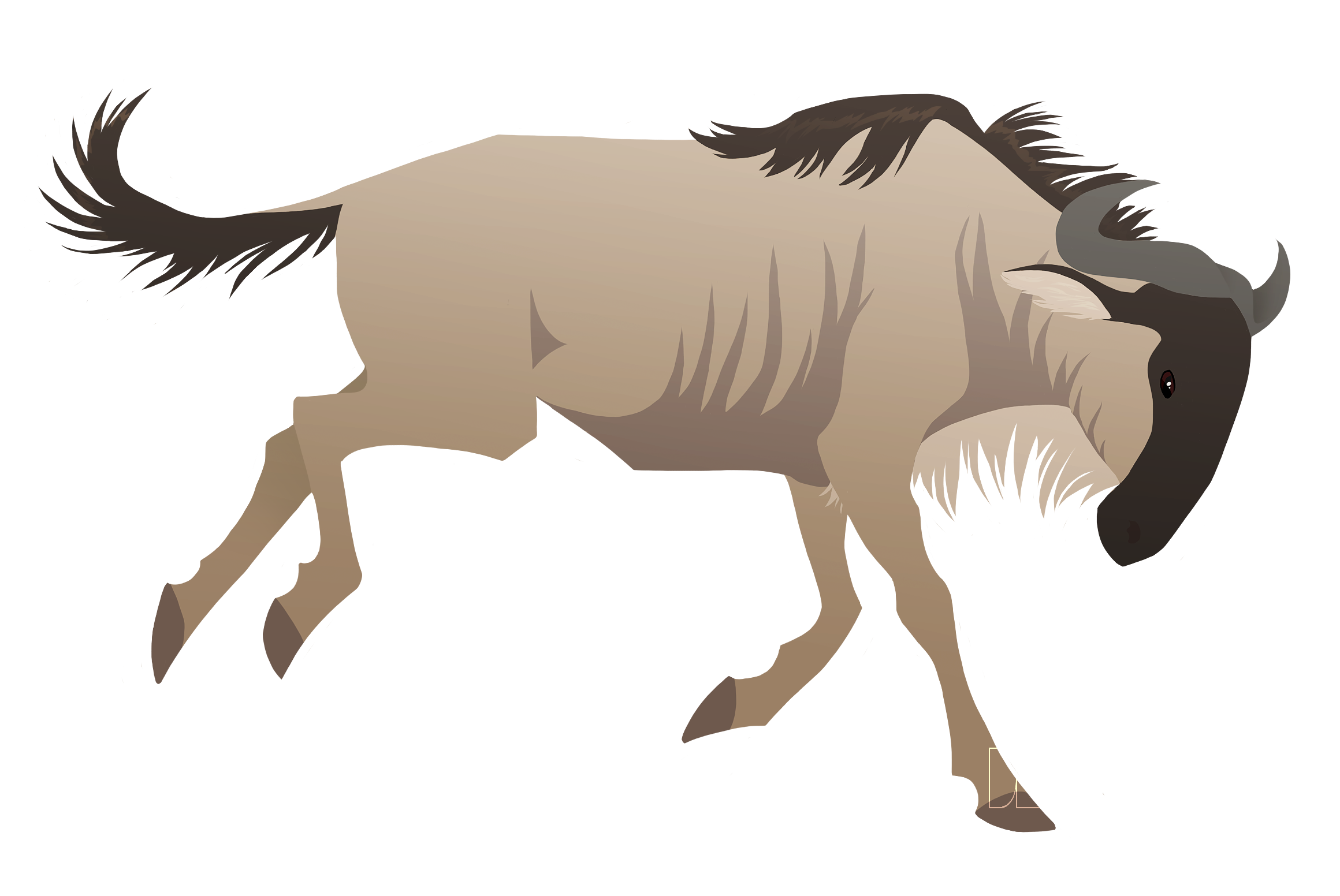 Wildebeest Clipart.