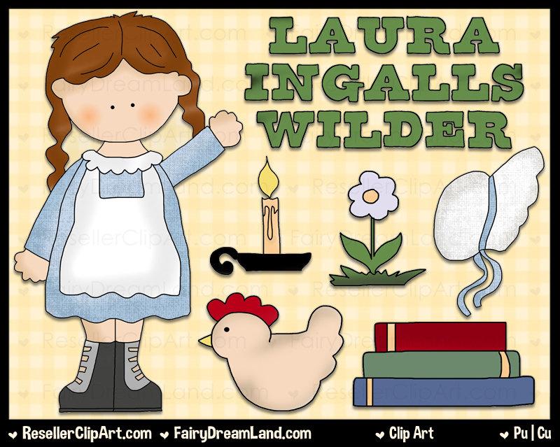 Laura Ingalls Wilder Clipart.