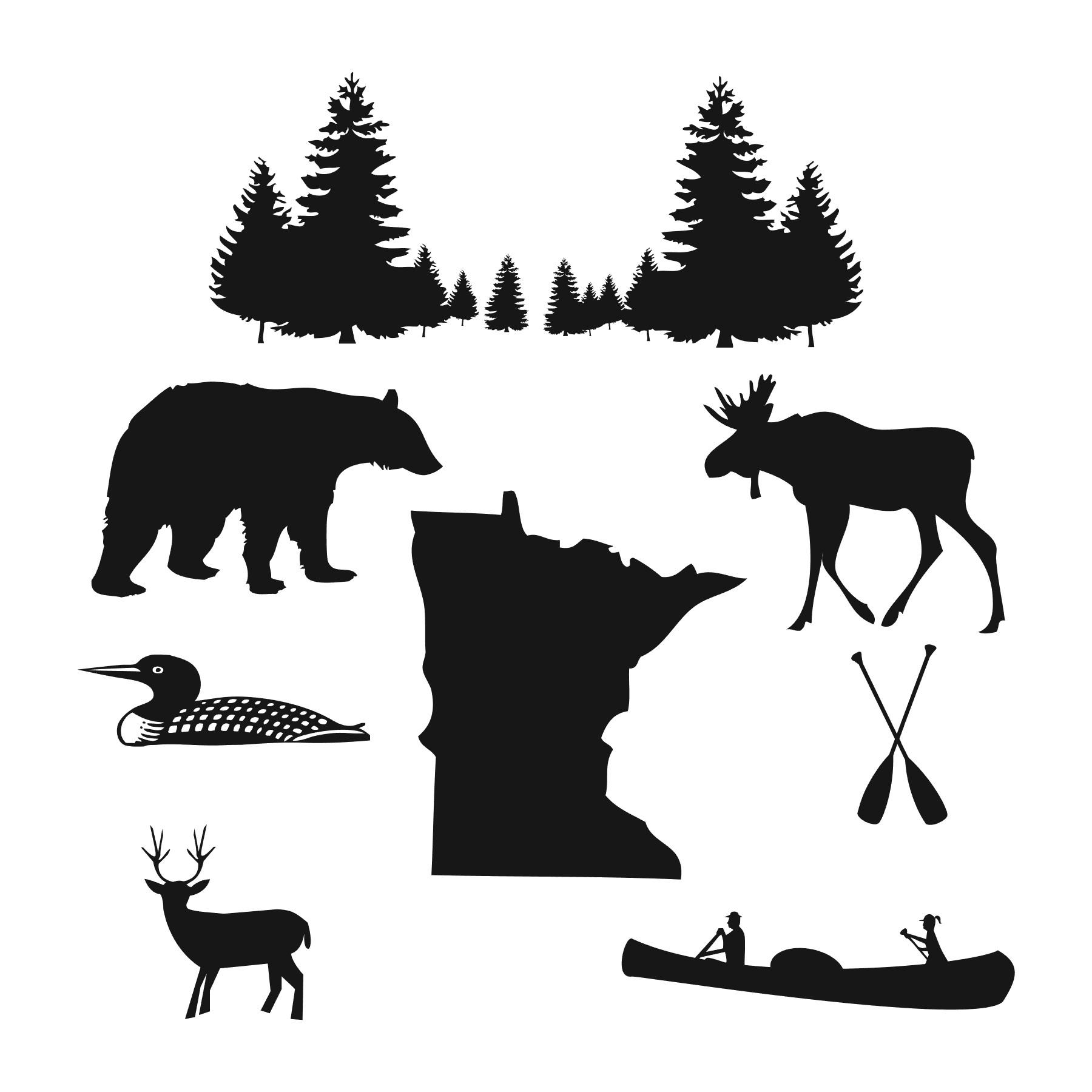 Minnesota Wilderness clip art.