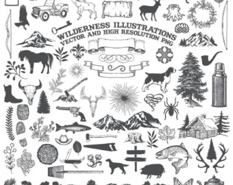 Wilderness food supply clipart.