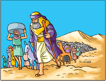 Moses leading the children of Israel thru the Wilderness.