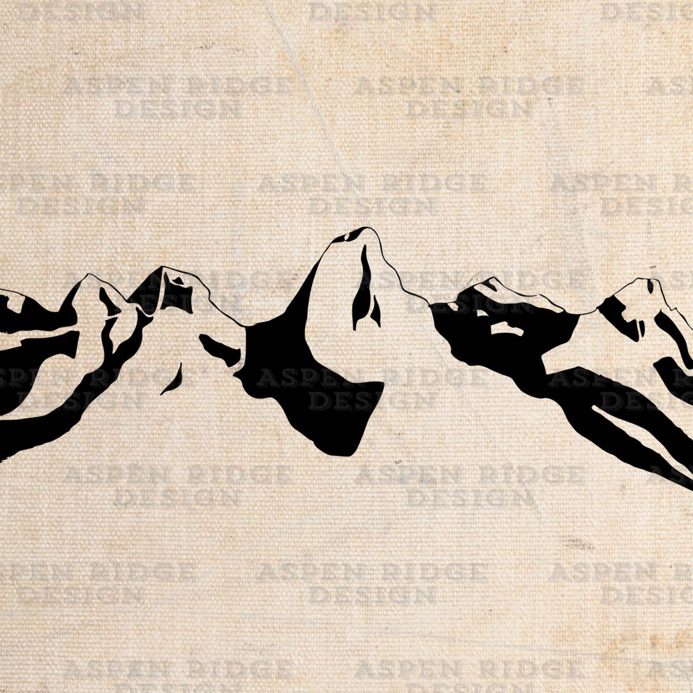 Wilderness Mountain Clip Art.