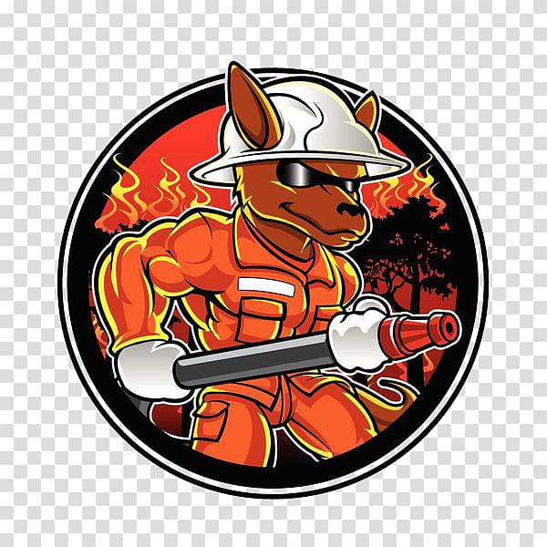 Firefighter Kangaroo Illustration, Fire fireman transparent.