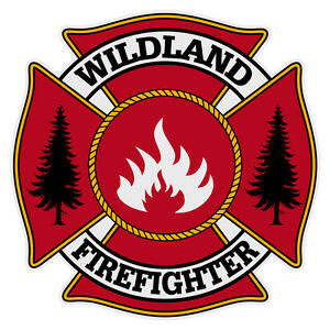 Details about Wildland Firefighter Very Small Maltese Cross Reflective  Helmet Decal Sticker.