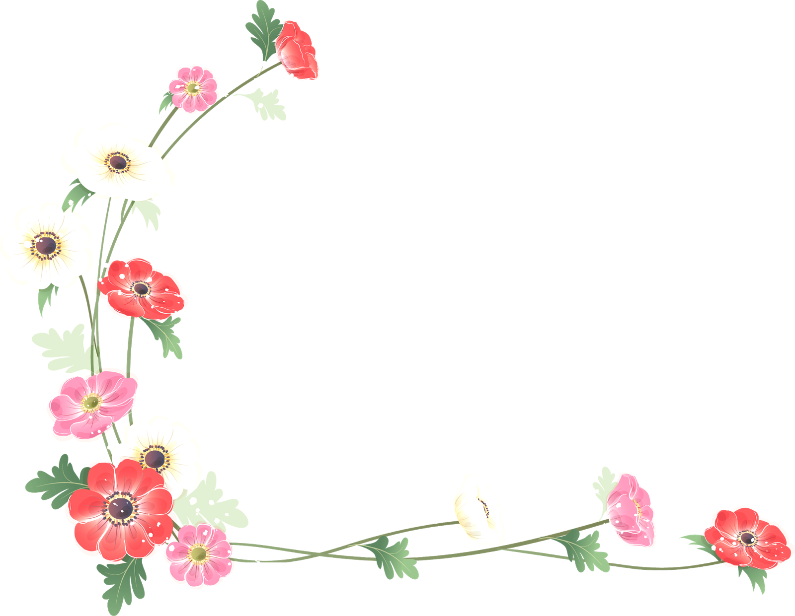 Clipart borders wildflower, Picture #419555 clipart borders.