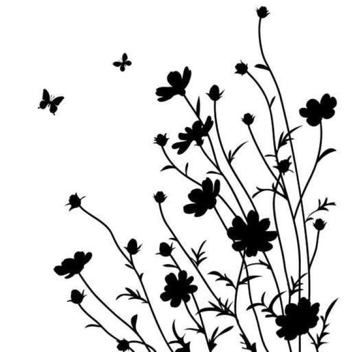 Wildflower Silhouette at GetDrawings.com.