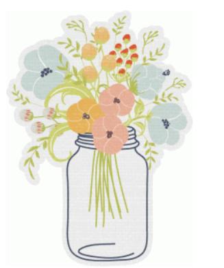 wildflower mason jar by simple stories #64455.