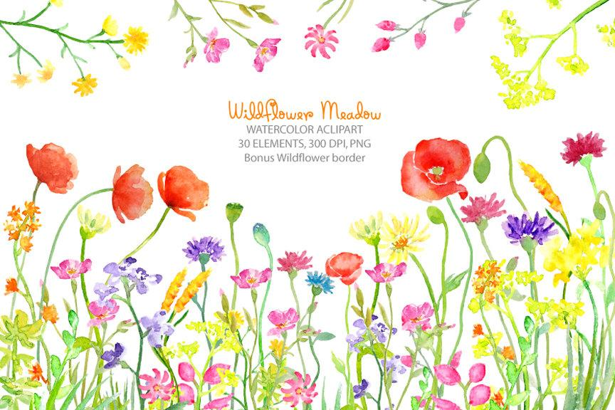 Wildflower border clipart free clipart images gallery for.