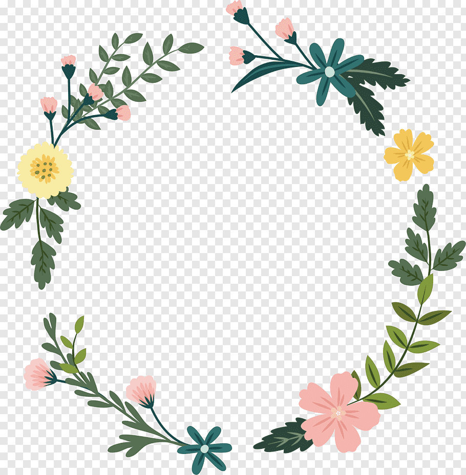 Assorted flowers illustration, Floral design Wildflower, The.