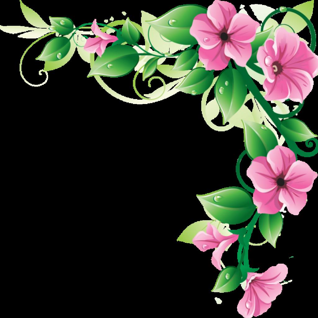 Clipart border wildflower, Clipart border wildflower.