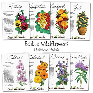 Amazon.com : Assortment of 8 Edible Wildflower Seed Packets (8.