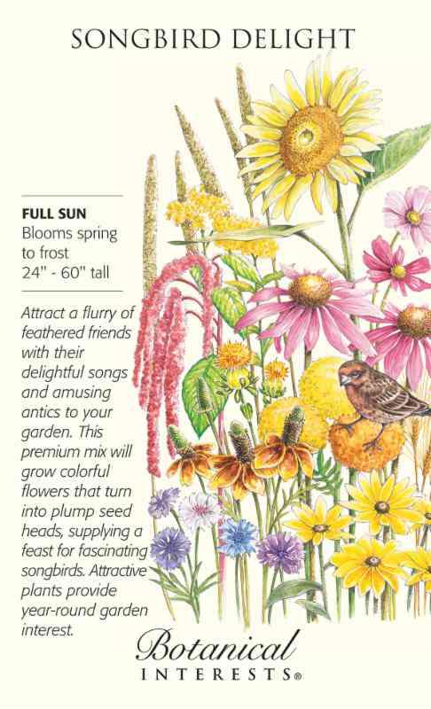 Wildflower seeds for birds.