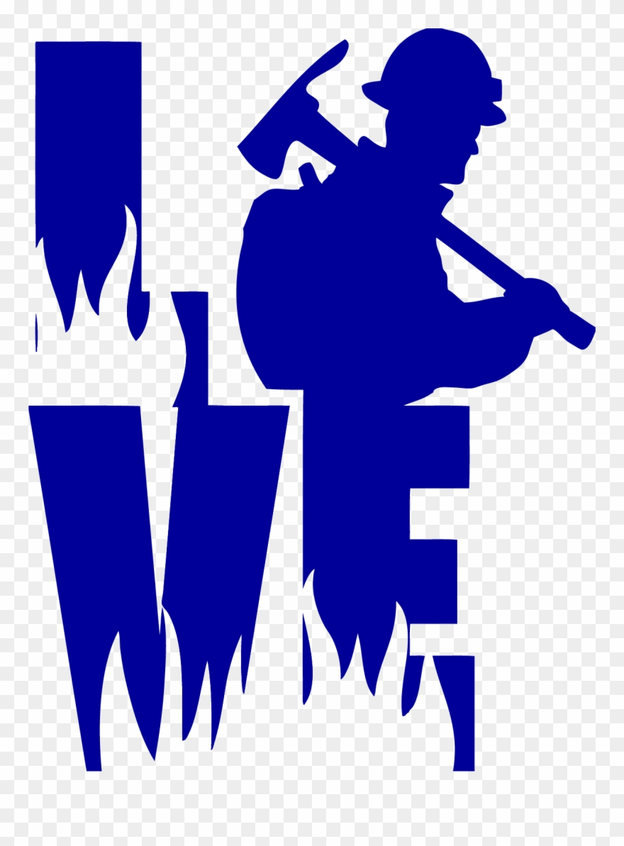 Love A Wildland Fire Fighter Decal For Wildland Firefighter.