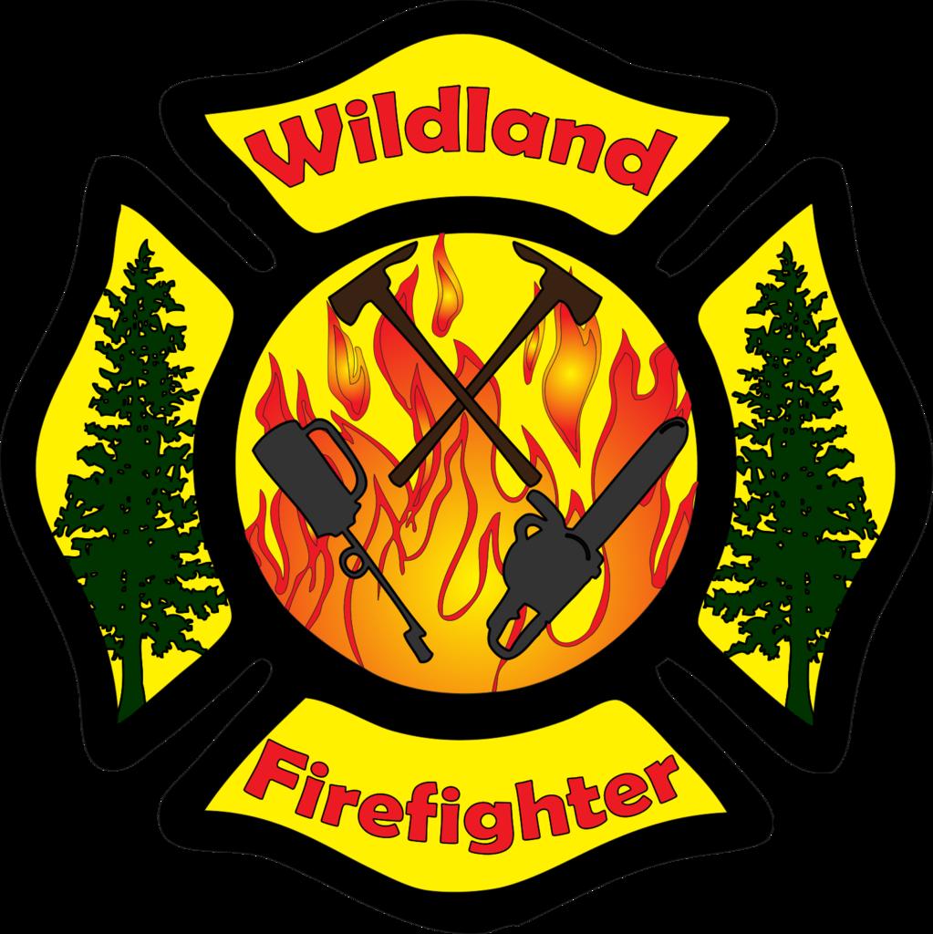 Wildland Firefighter Maltese Cross Decal.