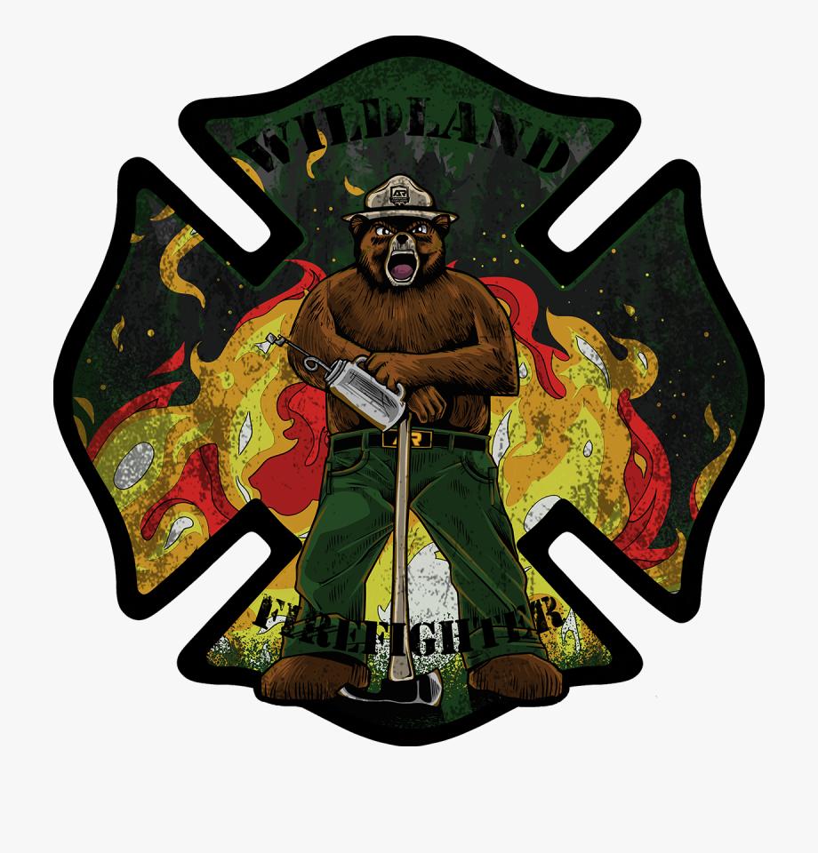 Smokey Wildland Firefighter Decals.