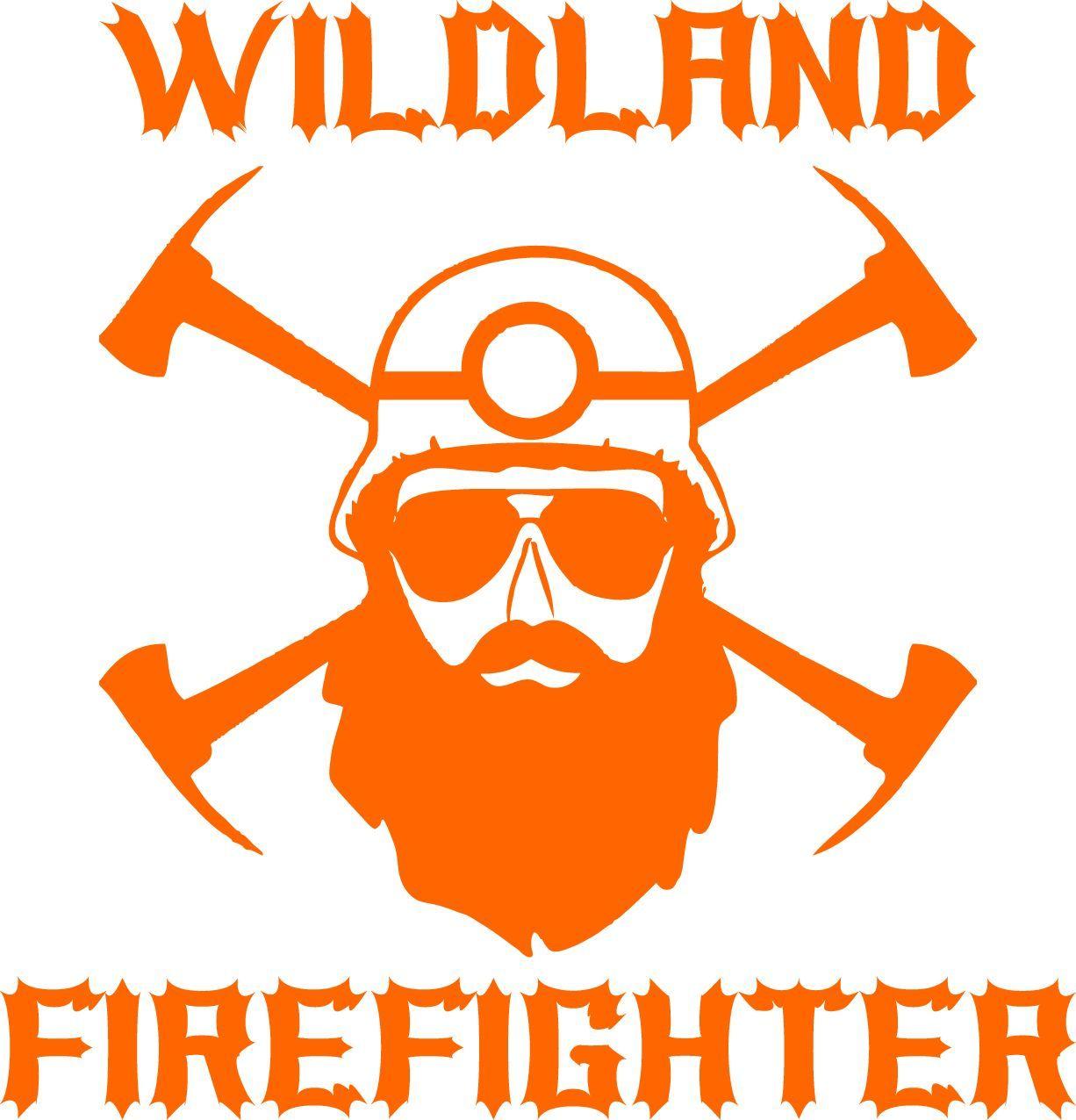 Wildland Firefighter Bearded Decal.