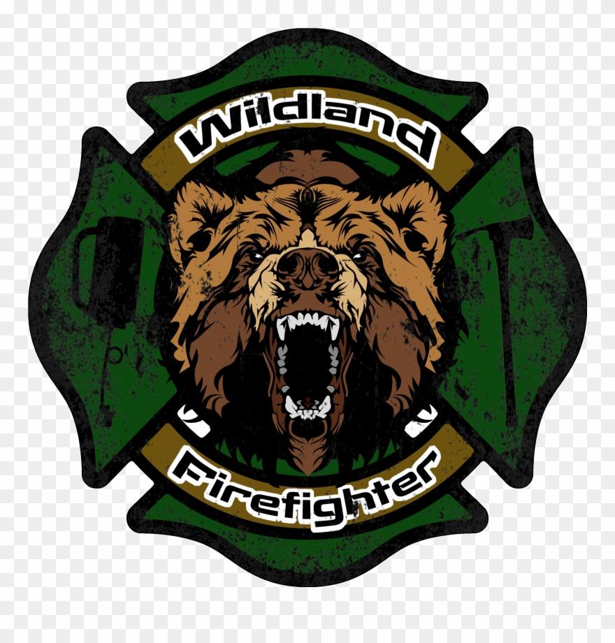 Wildland Firefighter Decal Clipart (#605001).