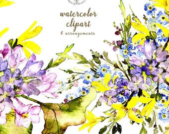 Aquarell Blumen Aquarell.