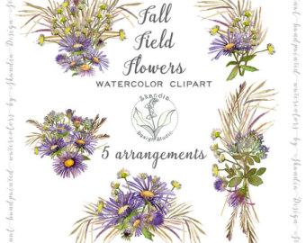 Aquarell Blumen Bluebonnet Clipart Clipart von SkandiaDesignStudio.