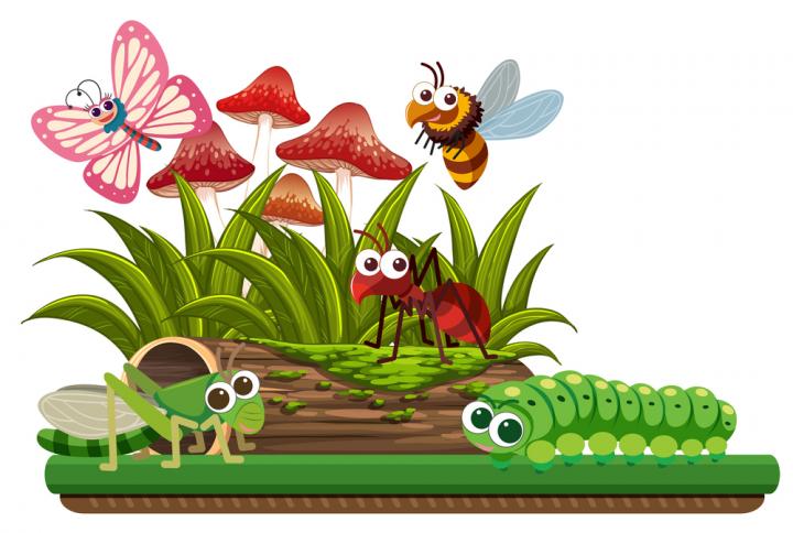 Nature scene with animals.