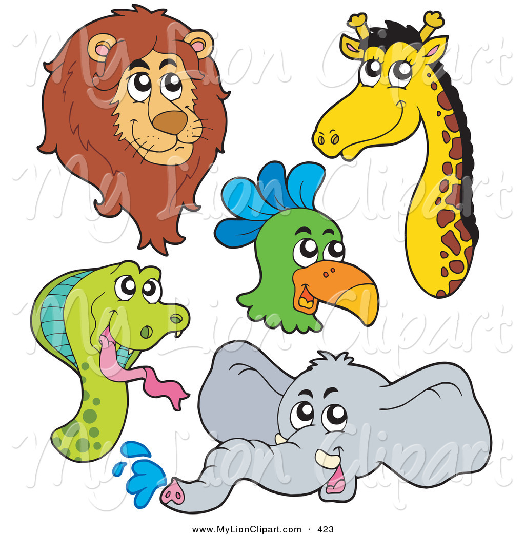 lion and elephant clipart #17