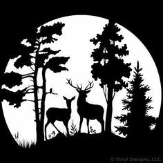 Image result for wildlife clipart black and white.