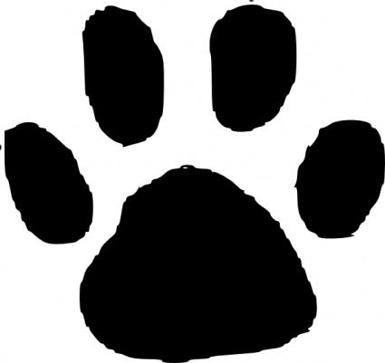 Animal Footprint clip art free vector.