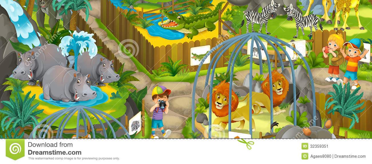 Zoo park clipart.